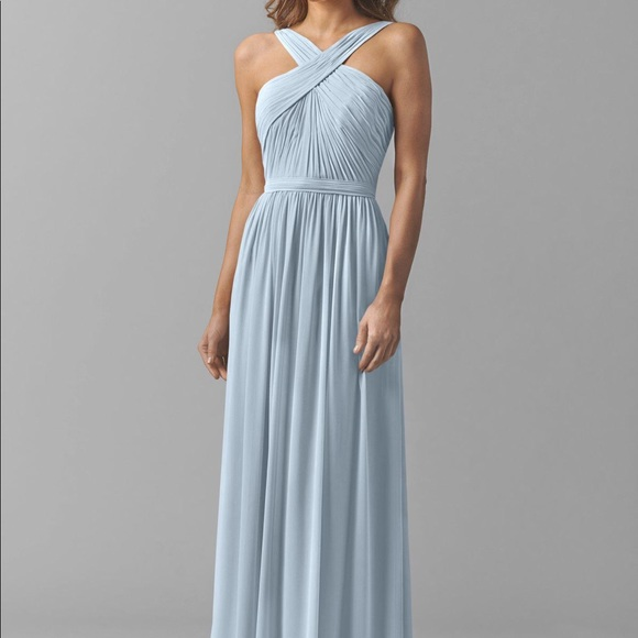 Watters Wtoo Blue Harbor Lace Bridesmaid Dress Size 2
